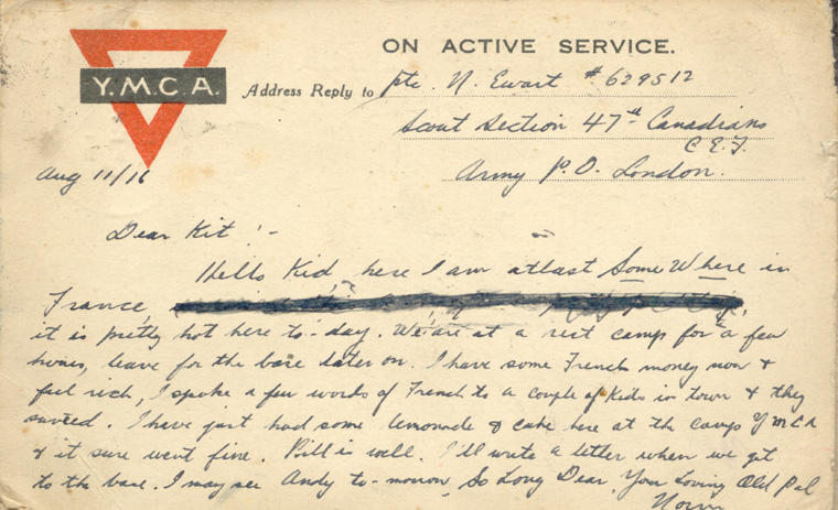 Ewart, Norman - Postcards | Page 3 | Canadian Letters