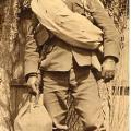 """Harry Morris With his """"gear"""" Duffle Bag letters Are for """"Canadian Grenadier Guards Co C"""" Front Only"""