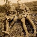 May 1918 - Ray on the right