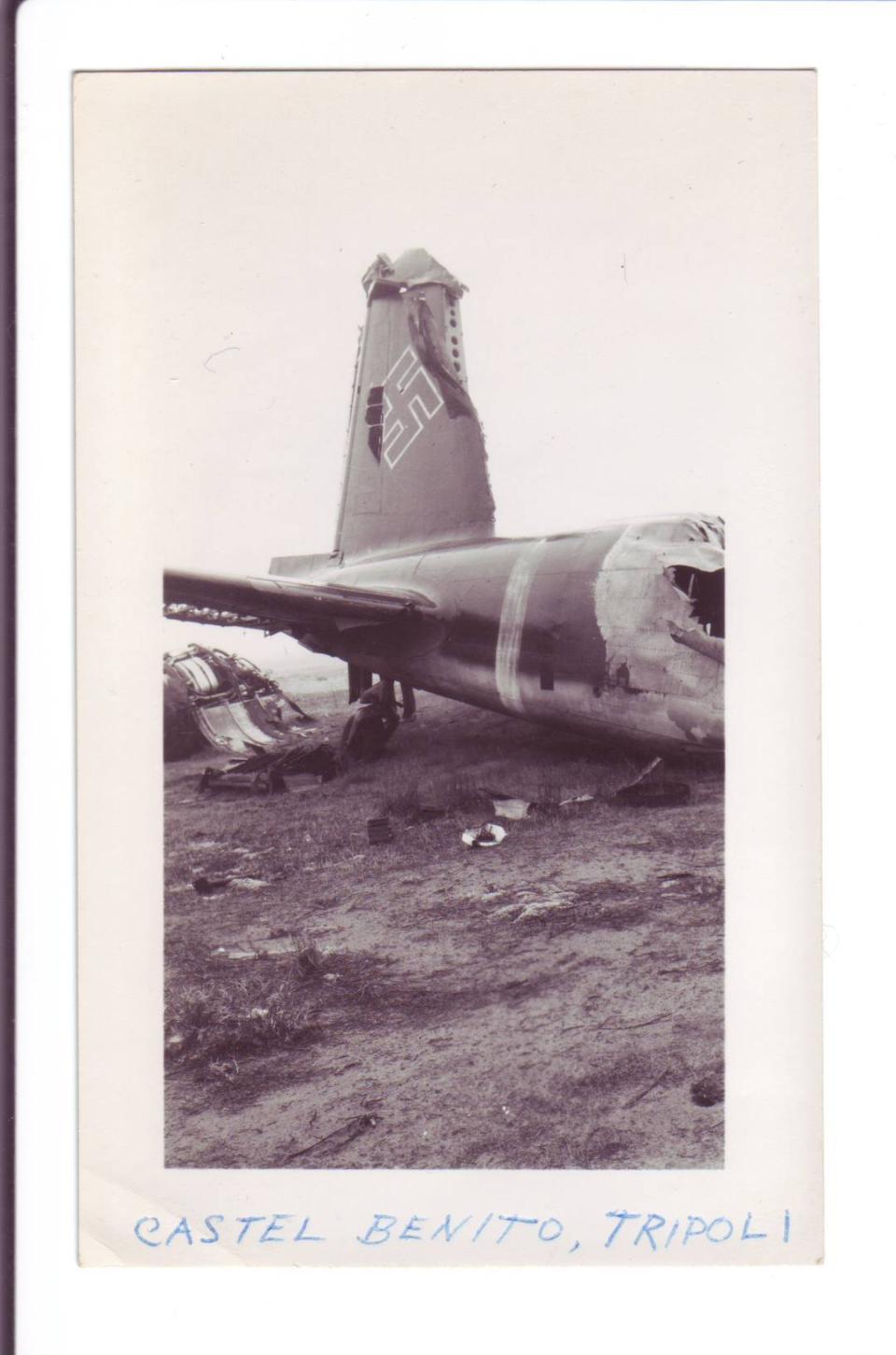 Photo #1 German Plane at Castel Benito (near)Tripoli