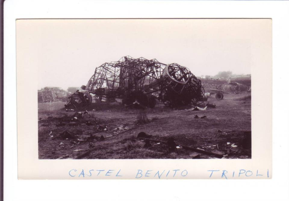 Photo #2 Plane remnants at Castel Benito (near)Tripoli