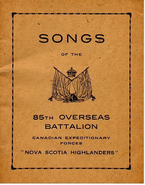 """""""Songs of the Overseas Battalion"""" Cover only"""
