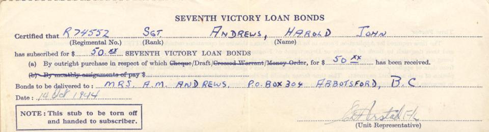 Loan Bond, Oct. 14, 19144