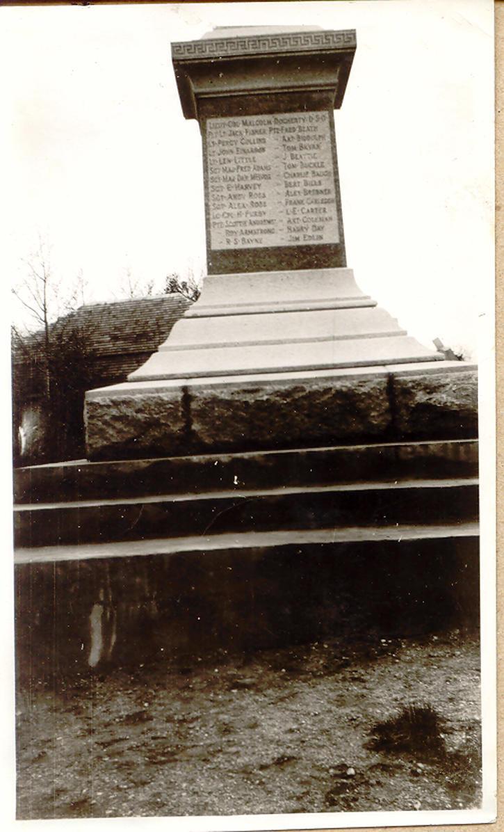 Cenotaph in Saltcoats, Sask.