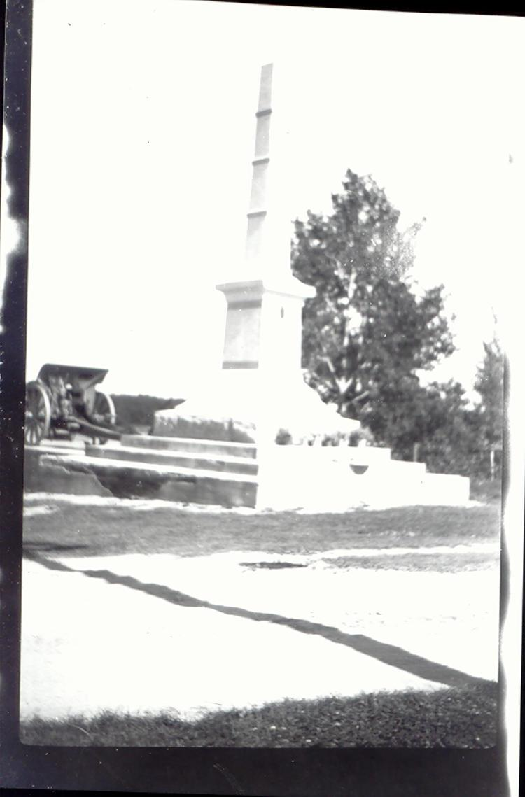 WWI Memorial in Saltcoats, Sask.