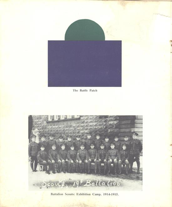 19th Battalion Golden Jubliee, inside cover