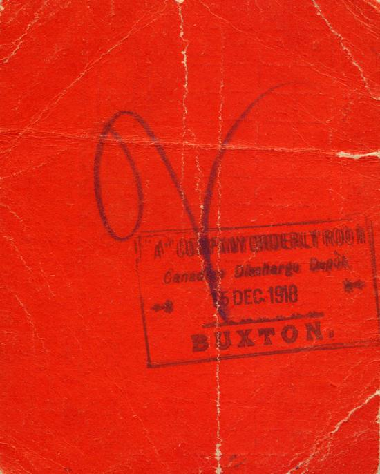 Identification Ticket, back