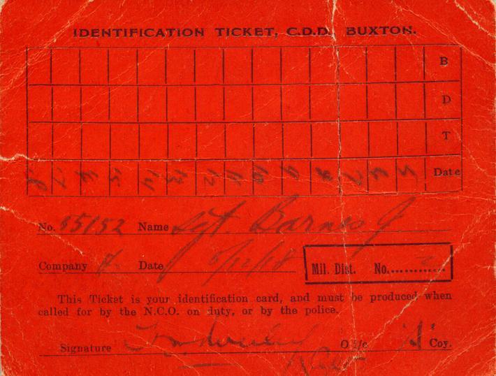 Identification Ticket, front
