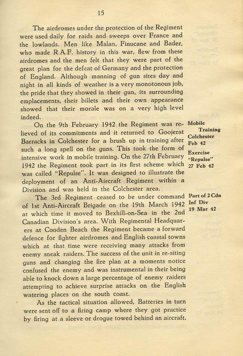 Regimental History, pg 15