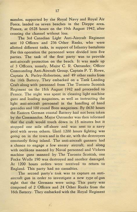 Regimental History, pg 17