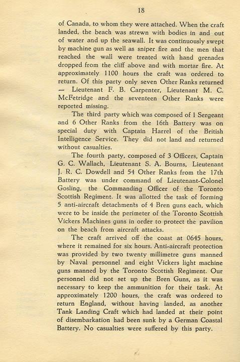 Regimental History, pg 18