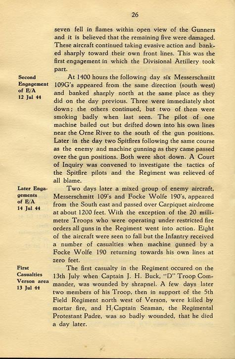 Regimental History, pg 26