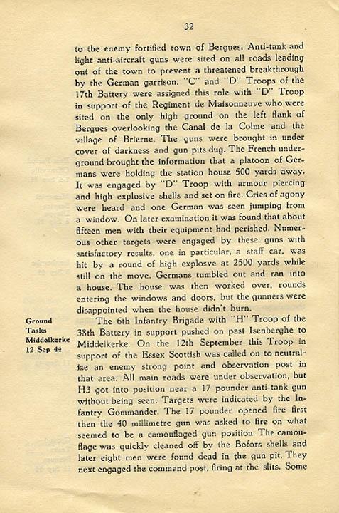 Regimental History, pg 32