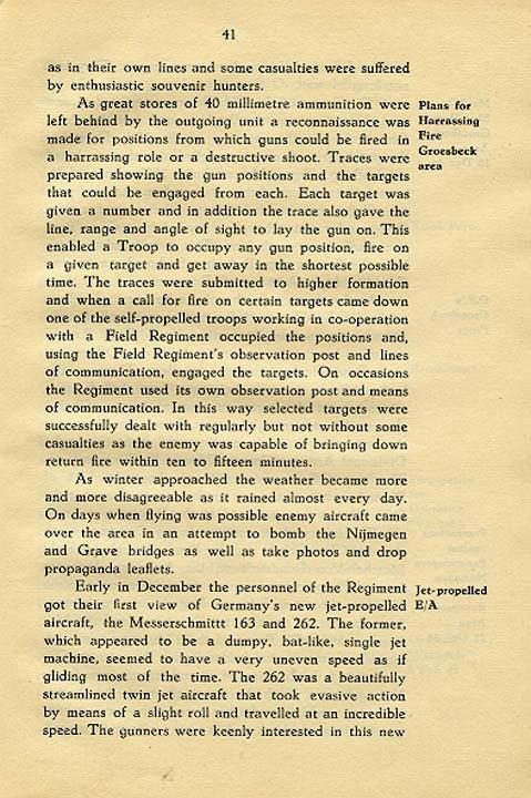 Regimental History, pg 41