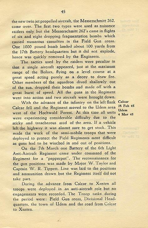 Regimental History, pg 45