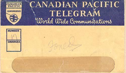 Envelope, January 13, 1943