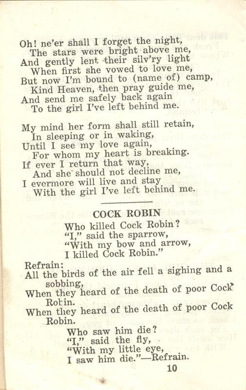 Winnipeg Rifles Songbook page 10
