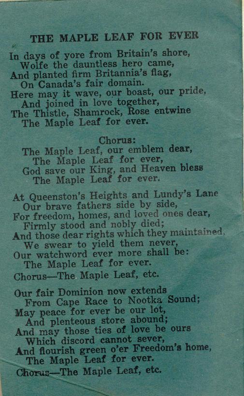 Winnipeg Rifles Songbook, nd, page 2