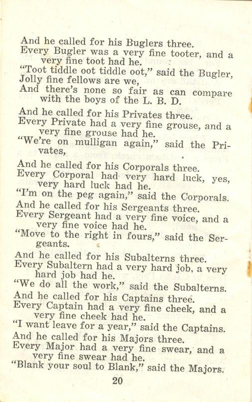 Winnipeg Rifles Songbook, nd, page 20