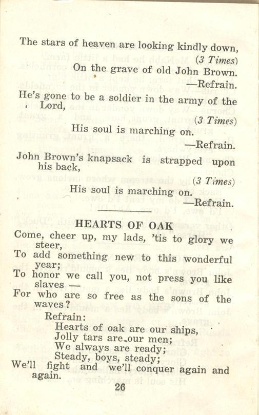 Winnipeg Rifles Songbook, nd, page 26