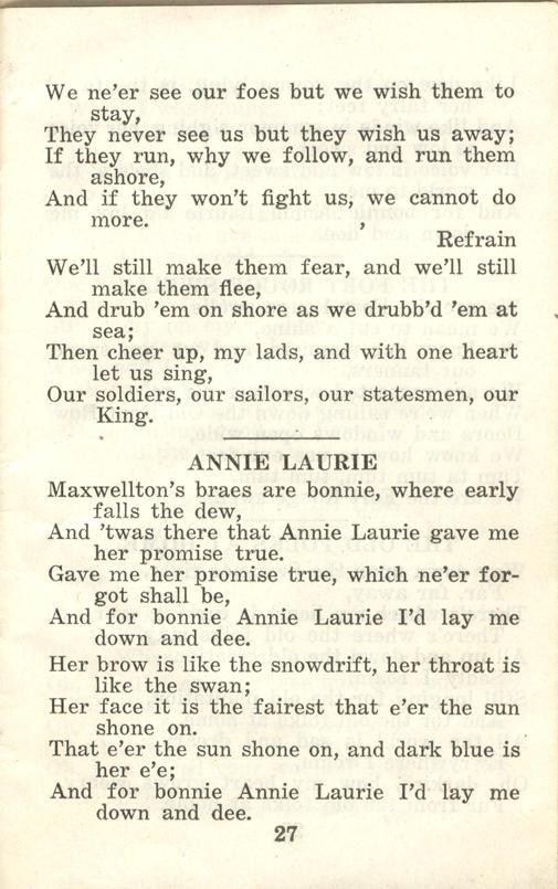 Winnipeg Rifles Songbook, nd, page 27