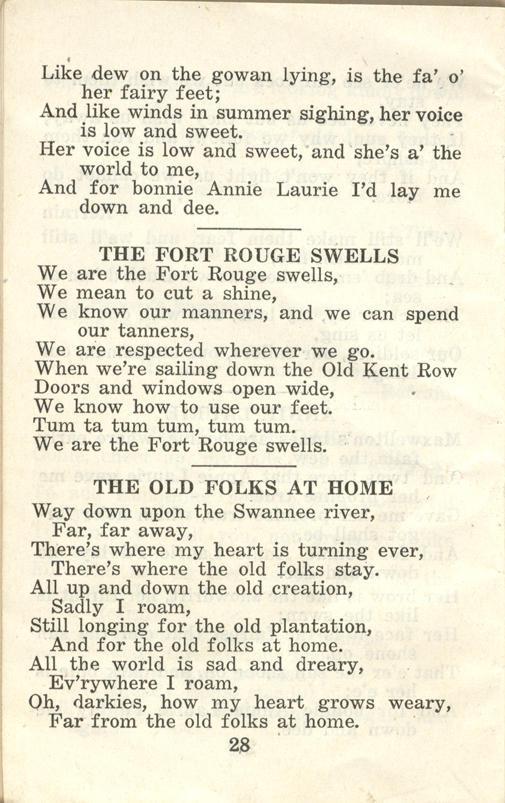 Winnipeg Rifles Songbook, nd, page 28