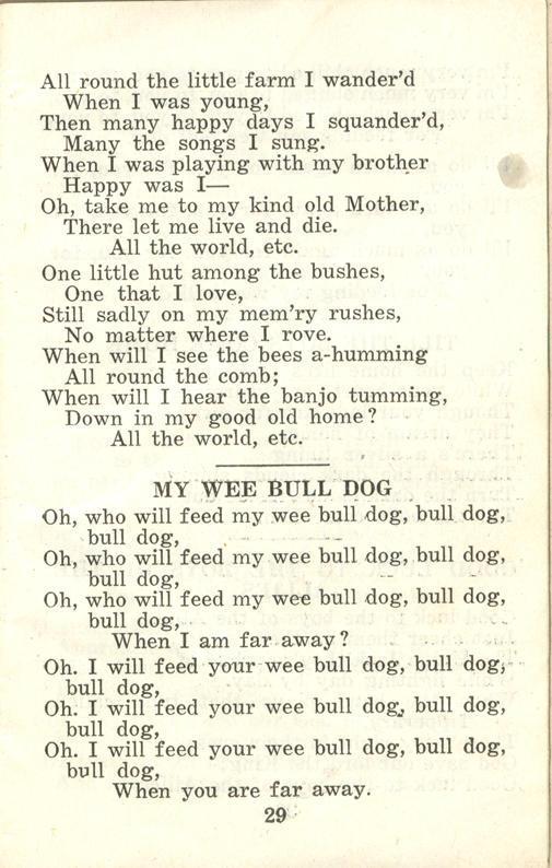 Winnipeg Rifles Songbook, nd, page 29