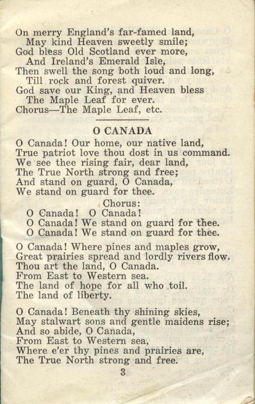Winnipeg Rifles Songbook page 3