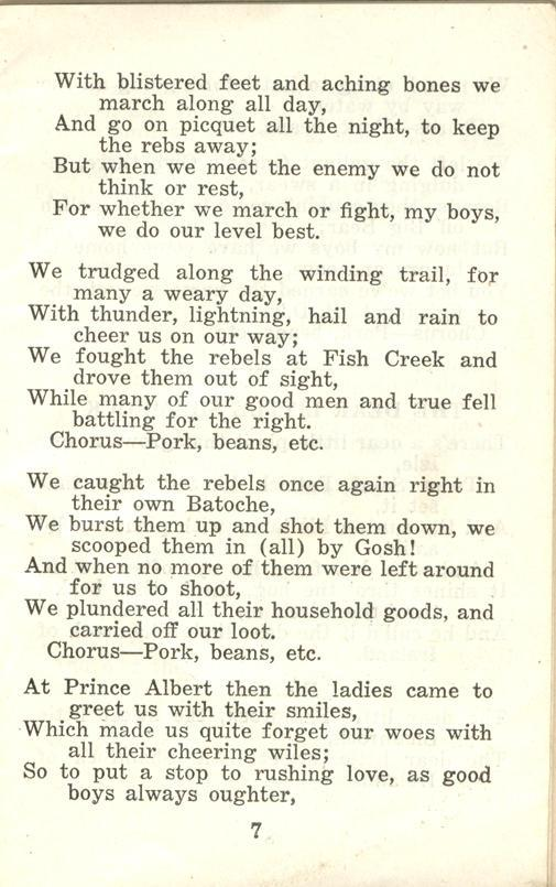 Winnipeg Rifles Songbook page 7