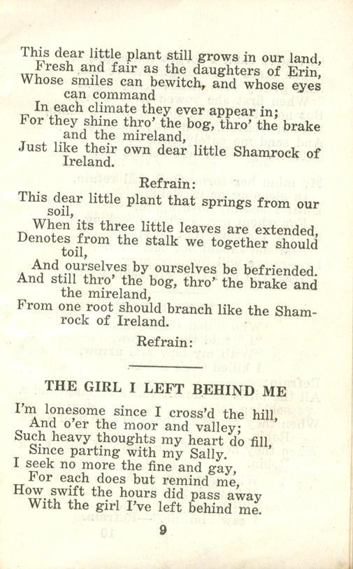 Winnipeg Rifles Songbook, nd, page 9