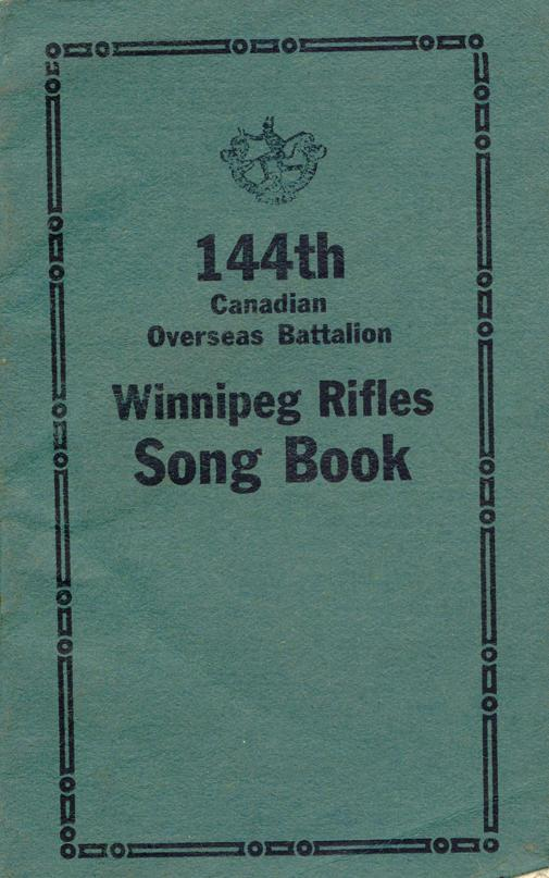 Winnipeg Rifles Songbook, nd, cover