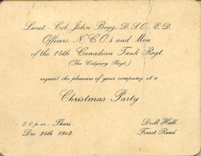 Christmas Party Invitation (front)