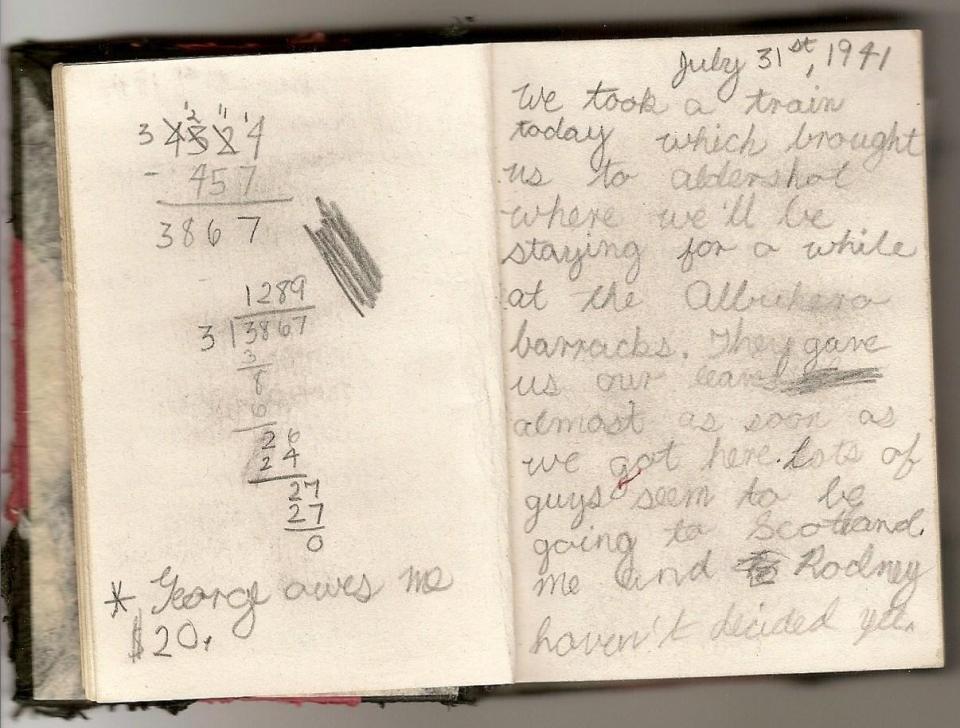Diary entry, July 31, 1941.
