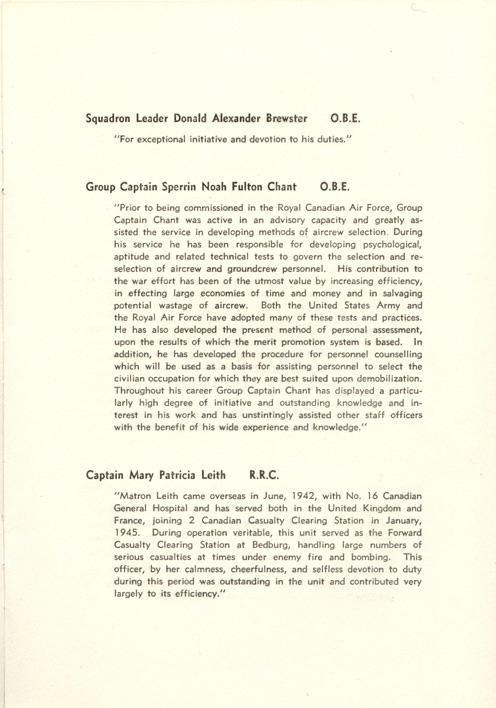Investiture Program, page 5.