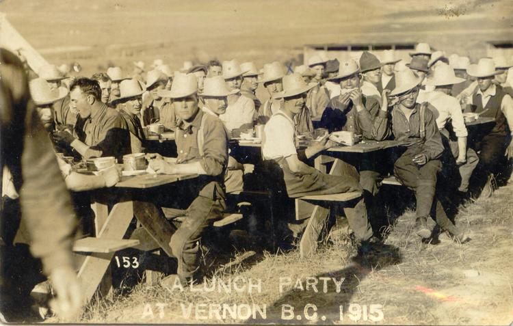 n.d. 22, Lunch party at Vernon BC 1915