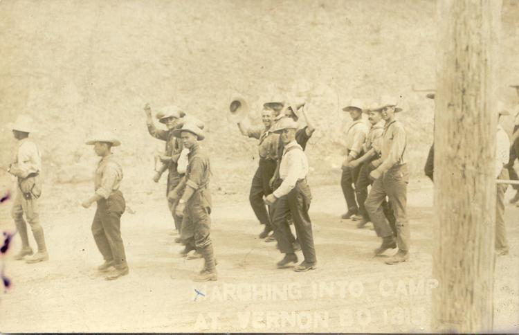n.d. 23, Marching into camp at Vernon BC