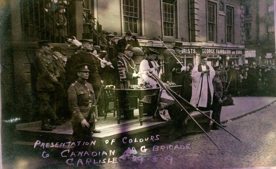 n.d. 45, Presentation of colours to Canadian MG Brigade