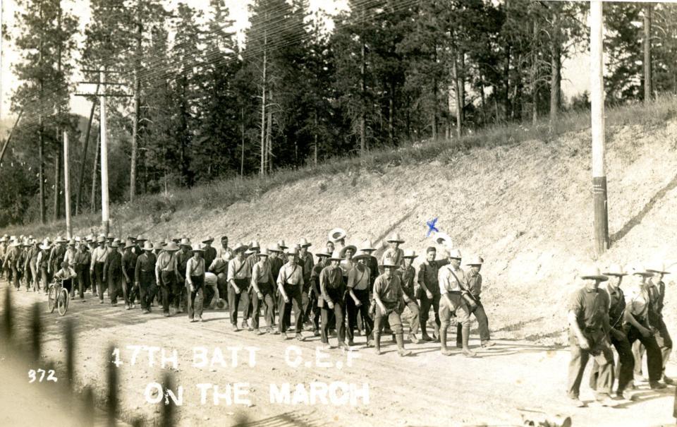n.d. 9, 17th Batt. CEF on the march
