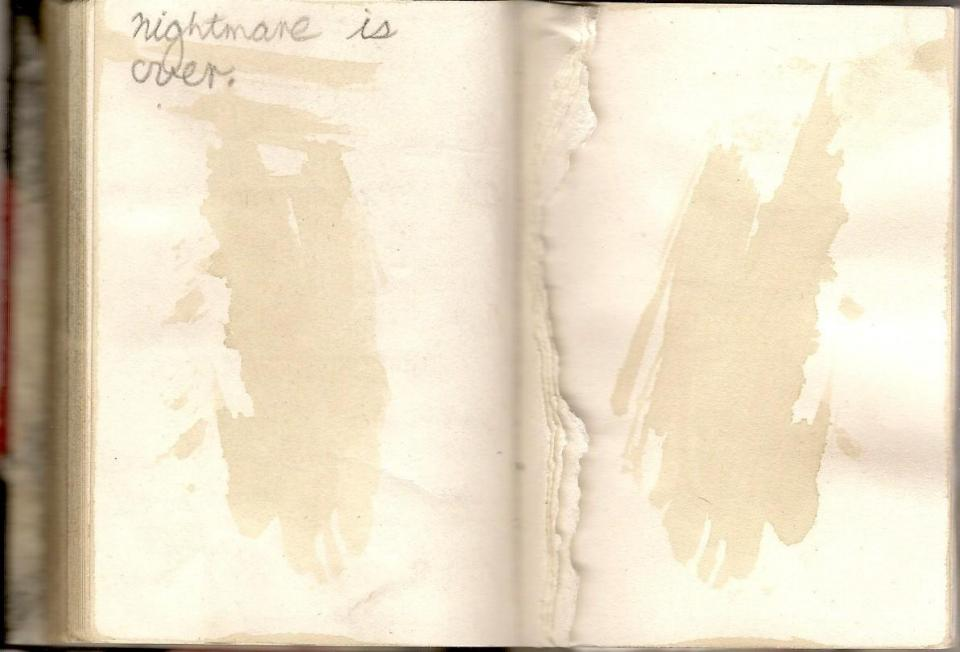 Diary, last page.