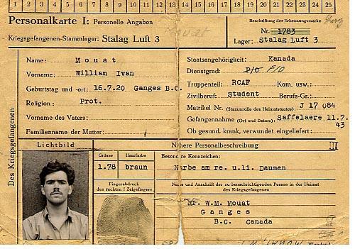Prisoner of war identity card (front)