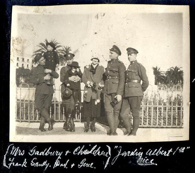 Mrs. Gadbury & Children: Frank, Sandy, [?], and Gene. nd.26