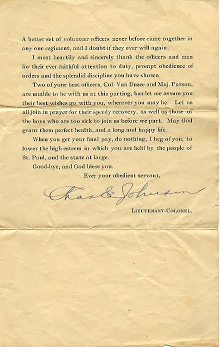 St Paul Minn, Nov 18th 1898 14th Minnesota Regiment Volunteer  Back