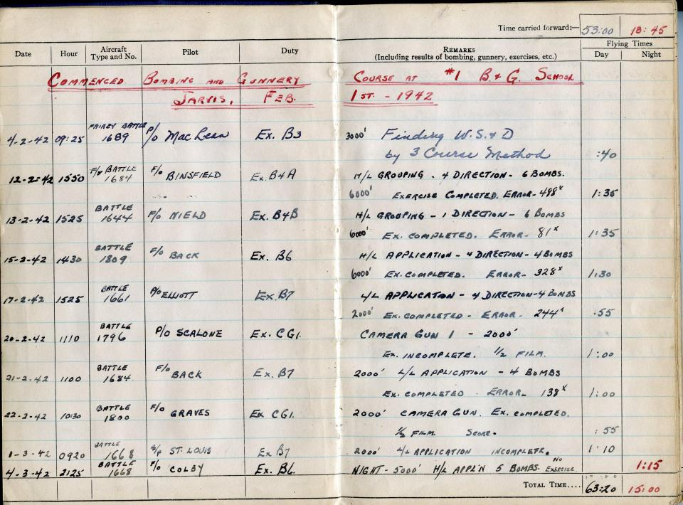 Thomas Scandiffio, Gunner Logbook, p.11