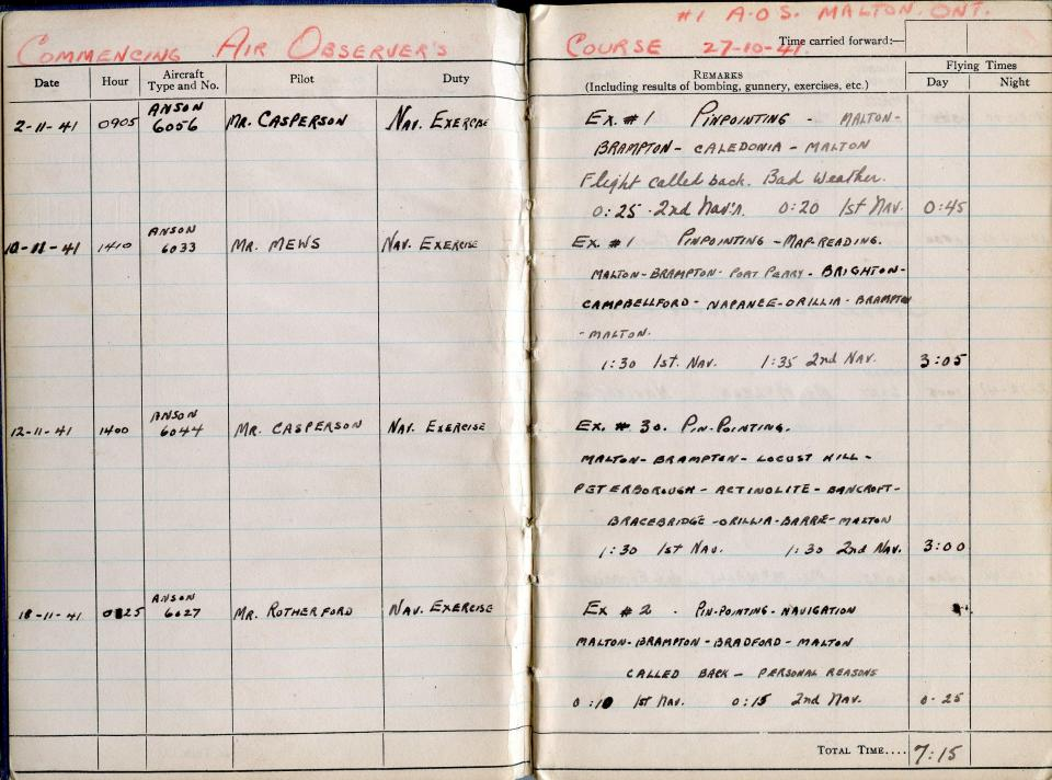 Thomas Scandiffio, Gunner Logbook, p.2