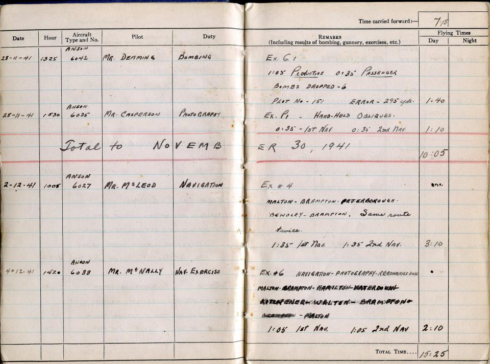 Thomas Scandiffio, Gunner Logbook, p.3