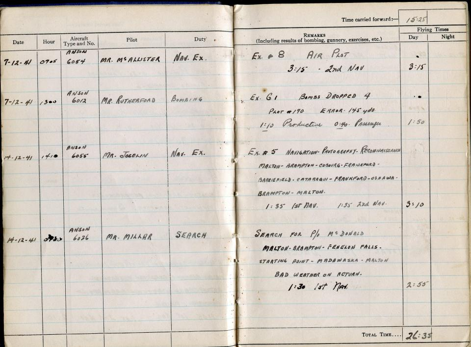 Thomas Scandiffio, Gunner Logbook, p.4