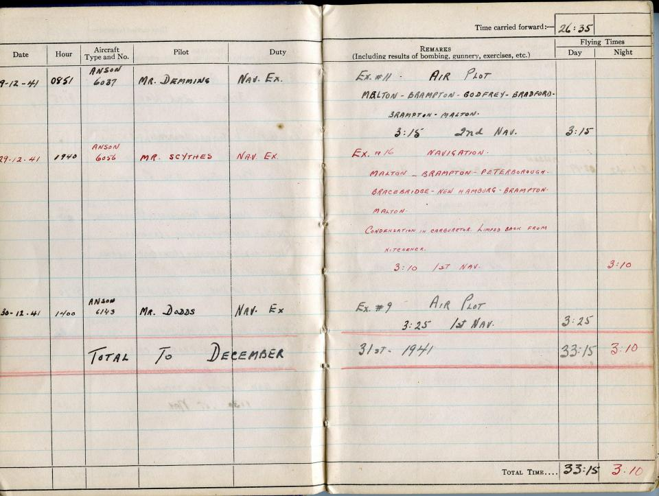 Thomas Scandiffio, Gunner Logbook, p.5