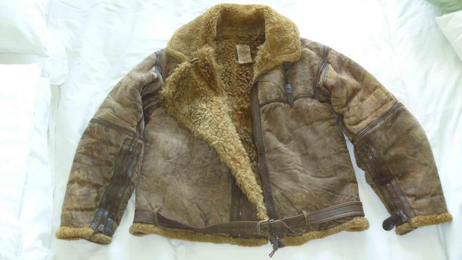 Frank Scandiffio's flying jacket.