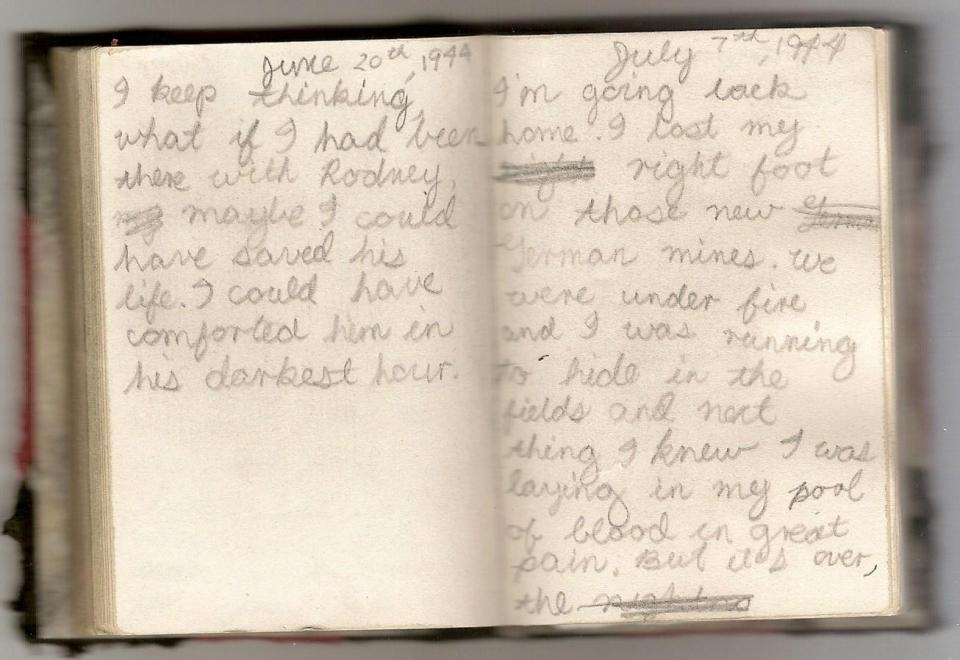Diary, second last page.