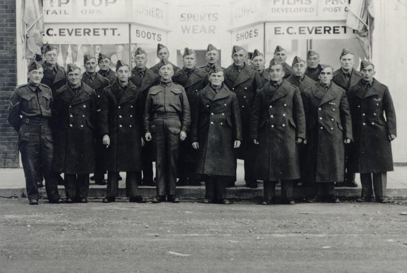 Malcolm Theodore Taylor, first row, second from left, WWII, nd.